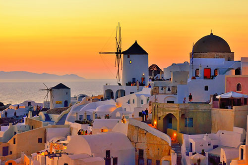 Sunset in Oia - Random Photos Inspiration