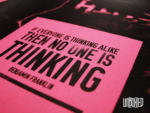 No One Is Thinking - Typography Design Inspiration