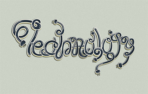 Thecnology - Typography Design Inspiration