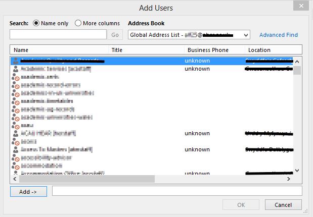 Outlook Shared Calendar Add Users