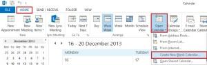 New Shared Calendar