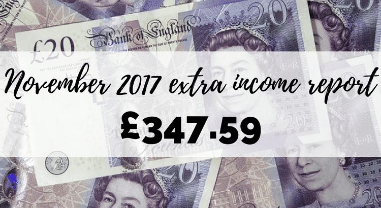 November 2017 extra income report