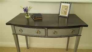 grey and black console table 2 drawer