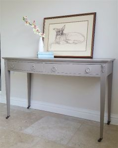 beige console table 2 drawer