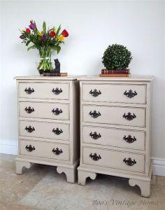 vintage bedside chest of drawers