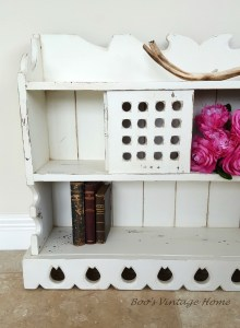 rustic hanging shelf white