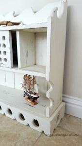 rustic hanging shelves white