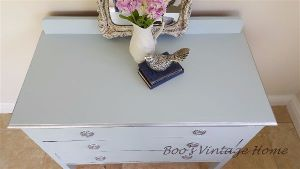 vintage chest of drawers blue