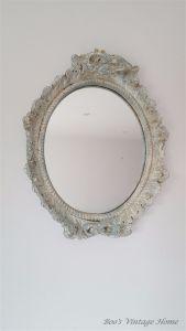 shabby chic plaster mirror