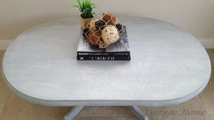 pine oval coffee table grey