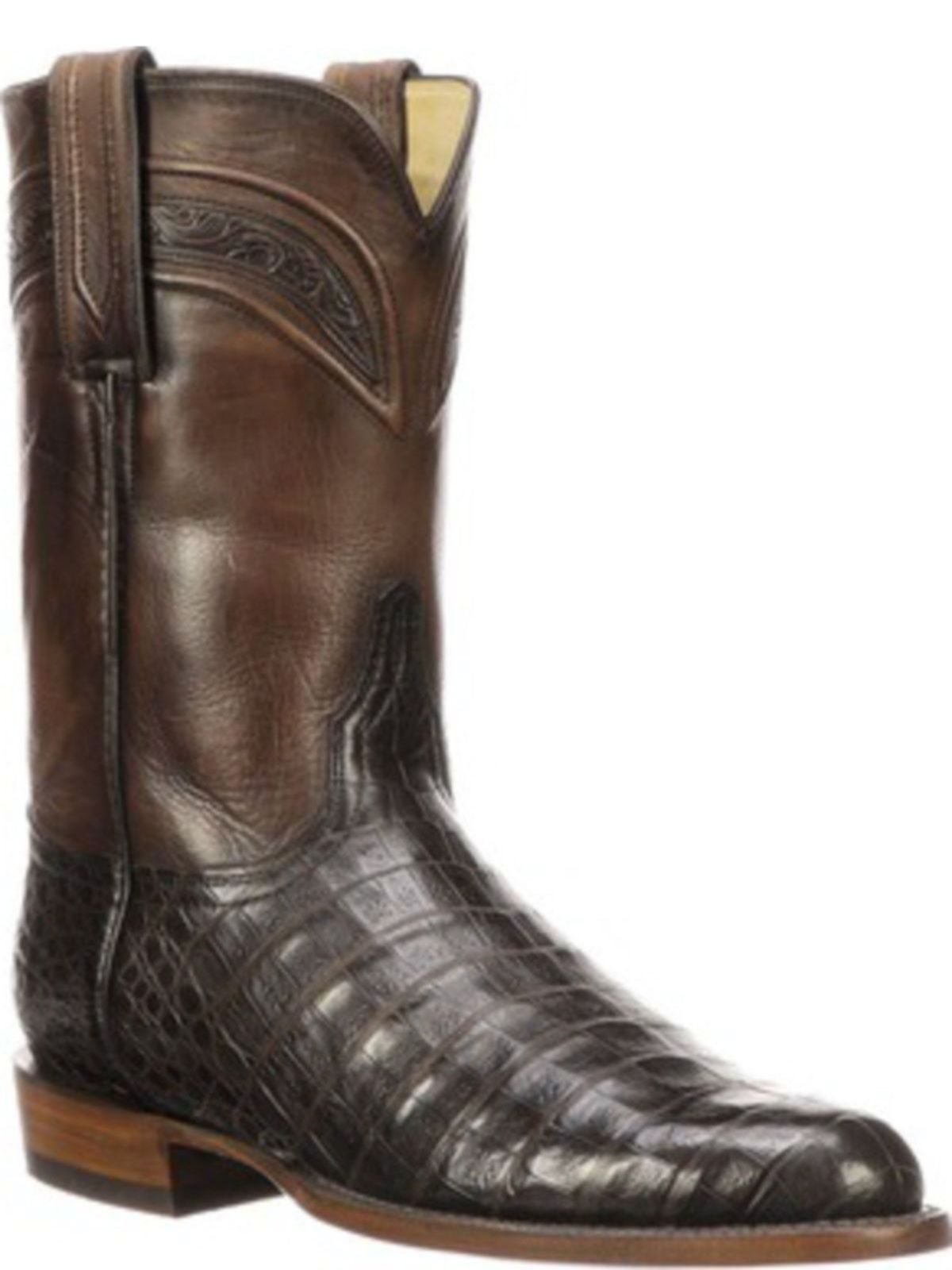 Bootamerica Lucchese Mens Wilson Chocolate Belly Caiman