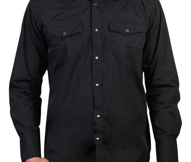 Gibson Mens Solid Western Long Sleeve Shirt