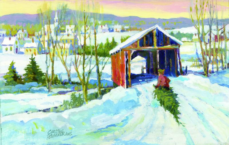 Plummer And Crabtree Paintings Featured On Holiday Cards