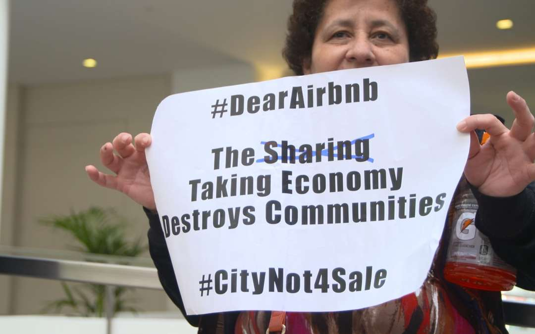 Protesters occupy Airbnb HQ ahead of housing affordability vote