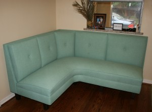 pillowback dining banquette booth