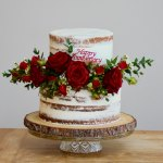 Semi naked ruby anniversary wedding cake
