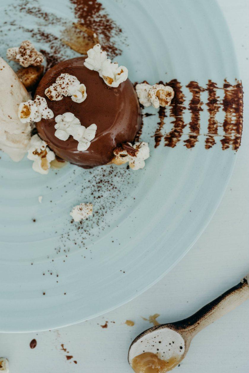 Luxurious chocolate pannacotta