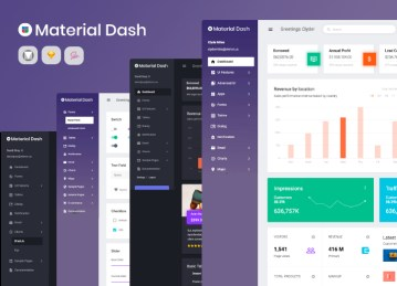 material theme material dashboard