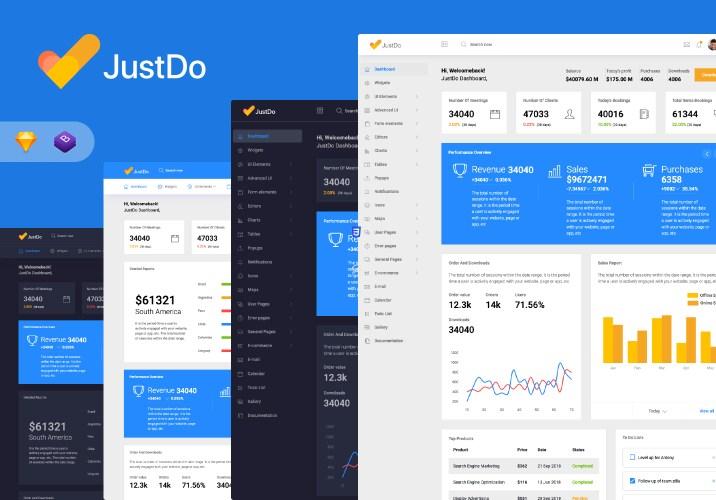 admin dashboard justdo admin template