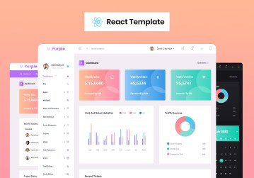 react admin template purple