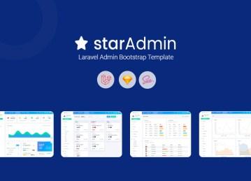 laravel admin star admin pro template