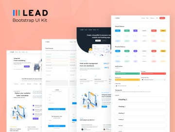 uikit lead dashboard ui kit