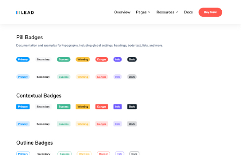 pill badges lead ui kit