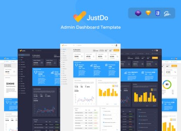 react dashboard template justdo
