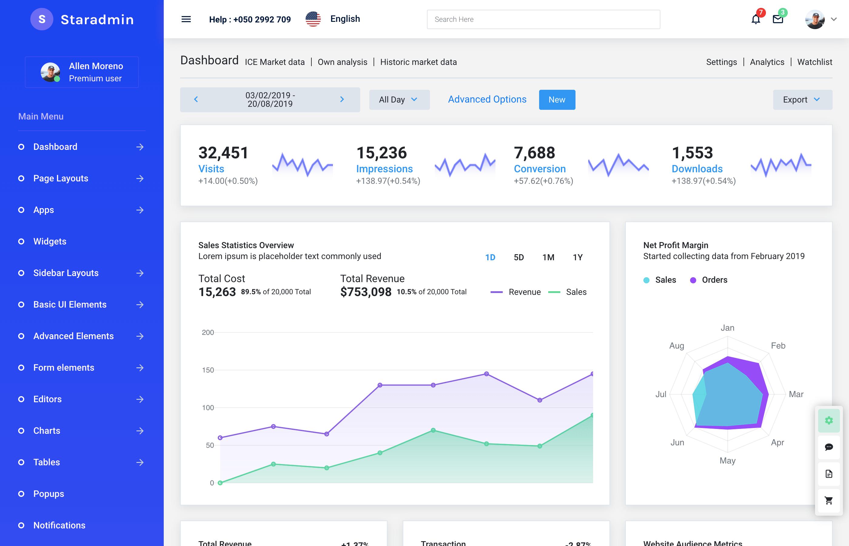 star admin pro dashboard