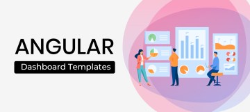 Image that reads Angular Dashboard Templates