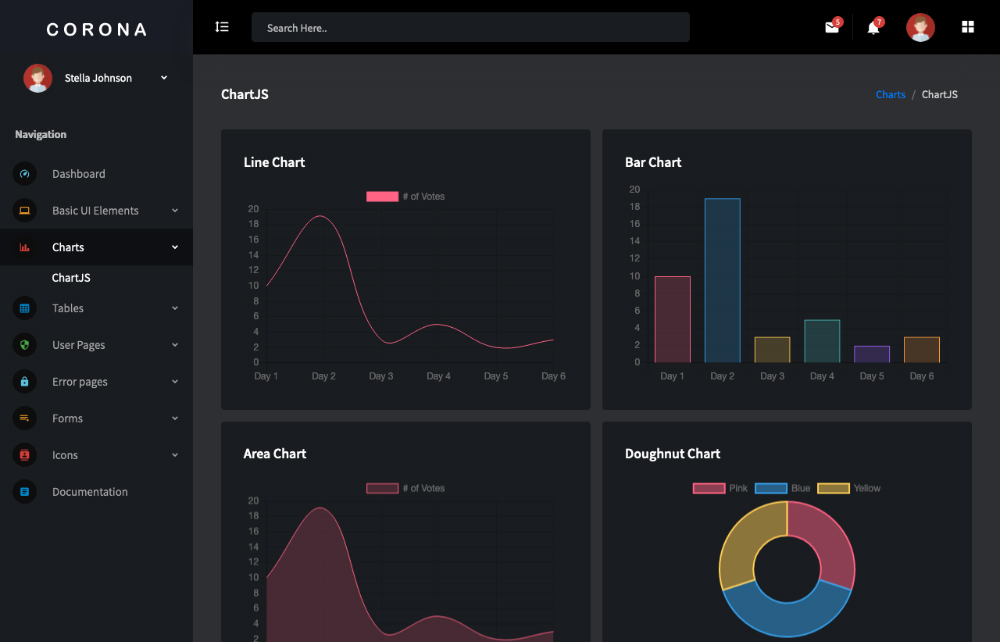 This is a preview of a free vue js admin template