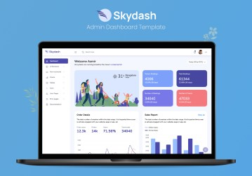 Skydash bootstrap admin dashboard preview