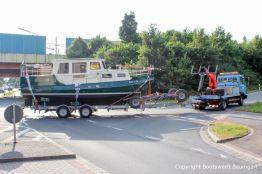 Rücktransport der St. Josephs Vleet nach Komplettrefit durch Bootswerft Baumgart in ihren Heimathafen an der Ostsee