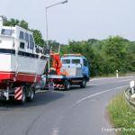 Bootstransport einer Motoryacht