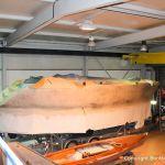 In der grossen Halle der Bootswerft Baumgart