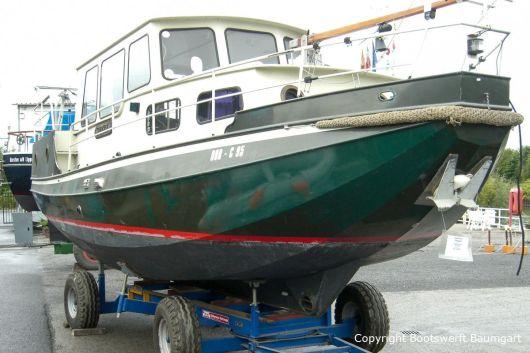 Abholung einer St. Jozef Vlet Motoryacht zum Refit in der Bootswerft Baumgart