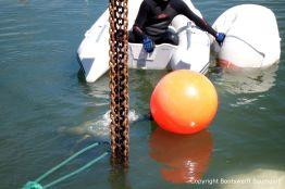 Heben einer Riva Super Aquarama durch die Bootswerft Baumgart