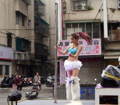 temple pole dancer taipei
