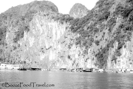 halong bay floating village