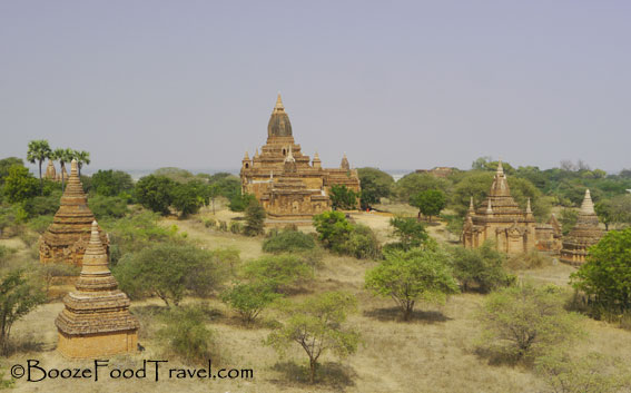 One of many similar views in Bagan
