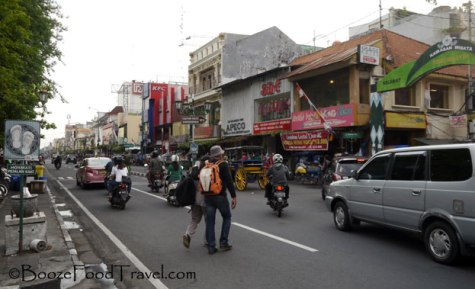 The traffic on Malioboro Street isn't as bad during the day