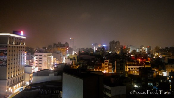 Tainan from the hostel rooftop