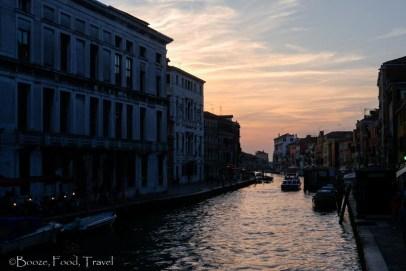 canal Venice dusk