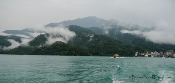 sun moon lake clouds