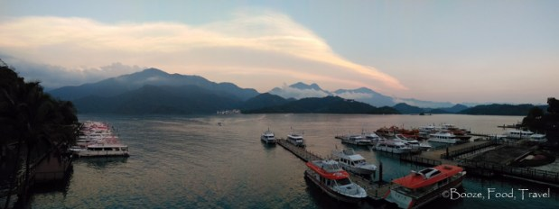 sun moon lake sunset