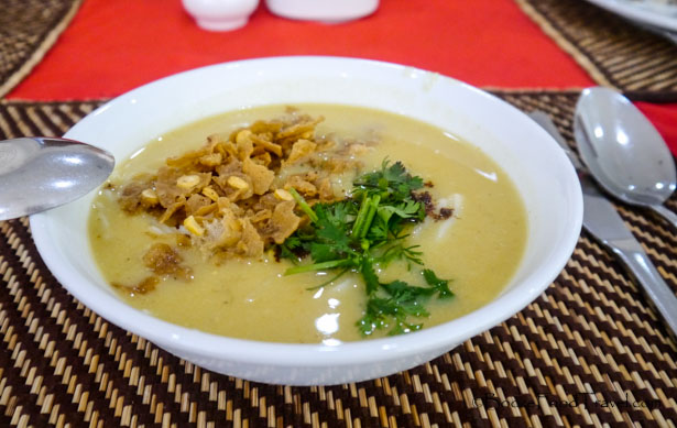 Burmese breakfast soup