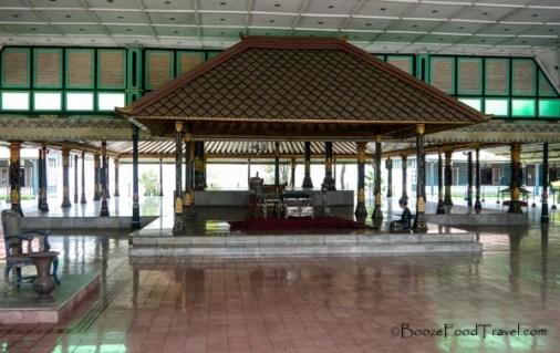 Sultan's ceremonial space in Yogyakarta