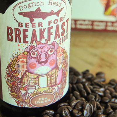 dogfish head beer for breakfast