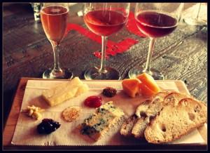 Wine and cheese, courtesy Davanti Enoteca
