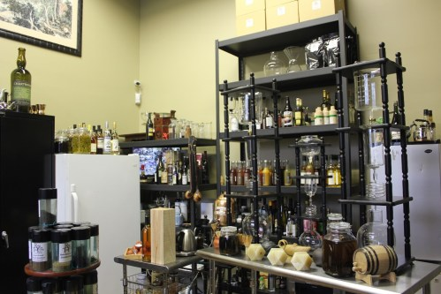 Creating beverages at Rare Tea Cellar/Photo: David Hammond